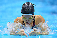 PICTURE BY ALEX BROADWAY /SWPIX.COM - 2012 London Paralympic Games - Day Ten - Swimming, Aquatic Centre, Olympic Park, London, England - 08/09/12 - Yaryna Malto of Ukraine competes in the Women's 100m Breaststroke SB12 Heats.