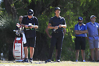 Thorbjorn Olesen (DEN) in action on the 18th during Round 2 of the ISPS Handa World Super 6 Perth at Lake Karrinyup Country Club on the Friday 9th February 2018.<br /> Picture:  Thos Caffrey / www.golffile.ie<br /> <br /> All photo usage must carry mandatory copyright credit (&copy; Golffile   Thos Caffrey)