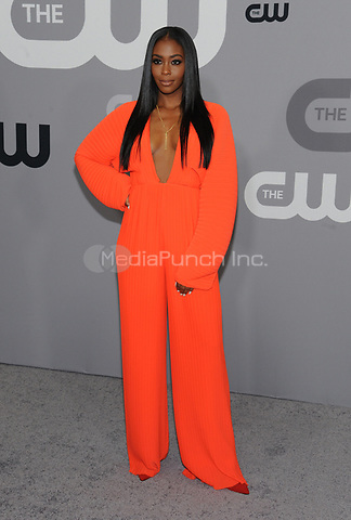NEW YORK, NY - MAY 17: Nafessa Williams at the 2018 CW Network Upfront at The London Hotel on May 17, 2018 in New York City. Credit: John Palmer/MediaPunch