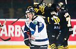 Stockholm 2014-10-02 Ishockey Hockeyallsvenskan AIK - BIK Karlskoga :  <br /> BIK Karlskogas Carl Berglund deppar efter att AIK:s Victor Ekarv gjort 1-0 <br /> (Foto: Kenta J&ouml;nsson) Nyckelord:  AIK Gnaget Hockeyallsvenskan Allsvenskan Hovet Johanneshovs Isstadion Bofors BIK Karlskoga depp besviken besvikelse sorg ledsen deppig nedst&auml;md uppgiven sad disappointment disappointed dejected