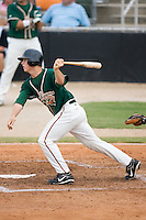 Matt Dominguez (33) of the Greensboro Grasshoppers follows through on his swing at Fieldcrest Cannon Stadium in Kannapolis, NC, Saturday August 24, 2008. (Photo by Brian Westerholt / Four Seam Images)