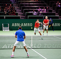 Februari 09, 2015, Netherlands, Rotterdam, Ahoy, ABN AMRO World Tennis Tournament, Jesse Huta Galung (NED) / Glenn Smits (NED) - Nedad Zimonjic (SRB)<br /> Photo: Tennisimages/Henk Koster