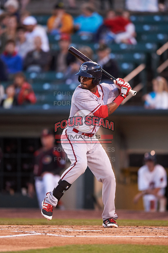 Syracuse Chiefs designated hitter Zach Collier (26) at bat during a game against the Rochester Red Wings on July 1, 2016 at Frontier Field in Rochester, New York.  Rochester defeated Syracuse 5-3.  (Mike Janes/Four Seam Images)