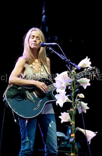 Bermudian singer-songwriter Heather Nova in concert at the third day of the Suikerrock festival in Tienen (Belgium, 30/07/2011)