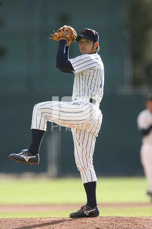 13 February 2007: Players from Rikkio University during Stanford's 5-1 exhibition win over Rikkio University at Sunken Diamond in Stanford, CA.