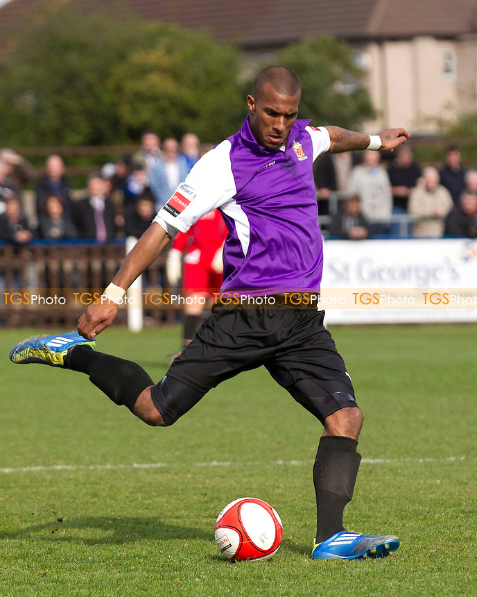 Reiss Noel of AFC Hornchurch - Wealdstone vs AFC Hornchurch - Ryman League Premier Division Football at Grosvenor Vale, Ruislip - 14/04/12 - MANDATORY CREDIT: Ray Lawrence/TGSPHOTO - Self billing applies where appropriate - 0845 094 6026 - contact@tgsphoto.co.uk - NO UNPAID USE.