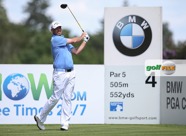 All eyes on Thomas Bjorn (DEN) as overnight leader during the Final Round of the BMW PGA Championship from Wentworth Golf Club, Virginia Waters, London, UK. Picture:  David Lloyd / www.golffile.ie