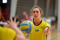 Central Manawa&rsquo;s Jessica Fagan-Pease during the Beko Netball League - Central Manawa v Southern Blast at ASB Sports Centre, Wellington, New Zealand on Sunday 12 May 2019. <br /> Photo by Masanori Udagawa. <br /> www.photowellington.photoshelter.com