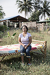 Ms. Bouloi at her house in Pattaya which she shares with her German husband Werner.<br />