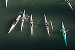 open water race, Sound Rowers Open Water Rowing and Paddling Club, Washington State, Pacific Northwest,  USA, La Conner, Swinomish Channel, human powered watercraft, high performance kayaks, outrigger canoes and open water racing shells,
