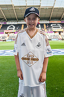 Swansea city mascots ahead of the  Premier League match between Swansea City and Everton played at the Liberty Stadium, Swansea  on September 19th 2015