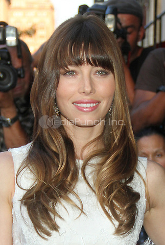 NEW YORK CITY, NY - August 02, 2012: Jessica Biel at the screening of Columbia Pictures Total Recall at the Chelsea Clearview Cinema in New York City. © RW/MediaPunch Inc.