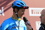 Jakob Fuglsang (DEN) Astana Pro Team at sign on in Fortezza Medicea before the start of Strade Bianche 2019 running 184km from Siena to Siena, held over the white gravel roads of Tuscany, Italy. 9th March 2019.<br /> Picture: Eoin Clarke | Cyclefile<br /> <br /> <br /> All photos usage must carry mandatory copyright credit (&copy; Cyclefile | Eoin Clarke)
