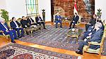 Egyptian President Abdel Fattah al-Sisi meets with Palestinian President Mahmoud Abbas in Cairo, Egypt, on July 9, 2017. Photo by Egyptian President Office