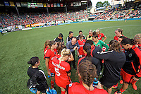 Portland, Oregon - Sunday September 4, 2016: Portland Thorns FC head coach Mark Parsons during a regular season National Women's Soccer League (NWSL) match at Providence Park.