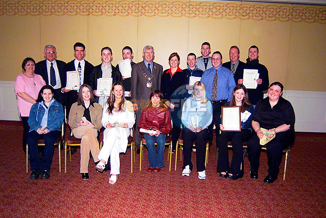 Mayor Jimmy Mulroy With Students and Trainers from The DYSCS in The Westcourt Hotel...Pic Tony Campbell/Newsfile