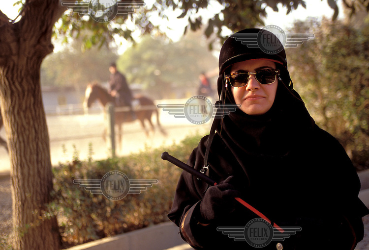 © Caroline Penn / Panos Pictures..Iranian women in sport..Tehran, Iran. October 1999...Horse rider wearing the hijab.
