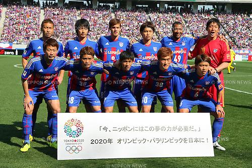 FCFC Tokyo team group line-up, MARCH 9, 2013 - Football / Soccer : 2013 J.LEAGUE Division 1 match between FC Tokyo 3-0 Kashiwa Reysol at Ajinomoto Stadium, Tokyo, Japan. (Photo by AFLO SPORT) [1156].