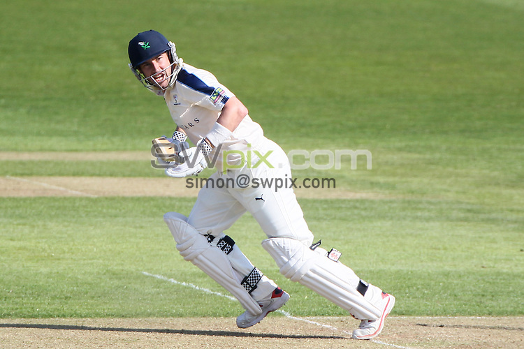 Picture by Alex Whitehead/SWpix.com - 07/04/2015 - Cricket - Yorkshire CCC v Leeds/Bradford MCCU - Day 1 - Headingley Stadium, Leeds, England - Yorkshire's Andrew Hodd hits out.
