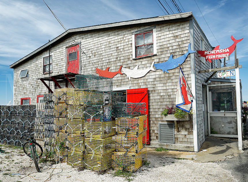 Fish market, Menemsha, Chilmark, Martha's Vineyard, Massachusetts