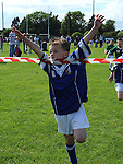 Darragh Dorian wins the under 7 race at Naomh Mairtin sports day. Photo: Colin Bell/pressphotos.ie