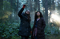 A Wrinkle in Time (2018) <br /> Behind the scenes photo of Ava Duvernay &amp; Storm Reid<br /> *Filmstill - Editorial Use Only*<br /> CAP/KFS<br /> Image supplied by Capital Pictures