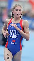 31 AUG 2007 - HAMBURG, GER - Hollie Avil - Junior Womens World Triathlon Championships. (PHOTO (C) NIGEL FARROW)