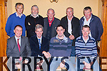Outgoing ICMSA Chairman Noel Murphy congratulates incoming Chairman Kevin Galvin  and their AGM in the Meadowlands Hotel on Tuesday night front row l-r: John Connor National President, Noel Murphy, Kevin Galvin and Denis Carroll Secretary. Back row: Tony Horgan, Johhny O'Connor, Terry O'Connor, John Foley and Maurice Walsh