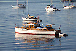 Puget Sound, boats at anchor, Port Townsend, Wooden Boat Festival, sunrise, Salish Sea, Washington State, Pacific Northwest, United States,