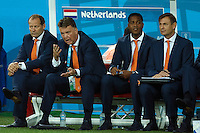 Netherlands manager Louis van Gaal looks dejected