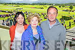 Pictured at Killarney Races on Monday, from left: Deirdre O'Neill, Mary Jo Hurley and Ray Hurley..