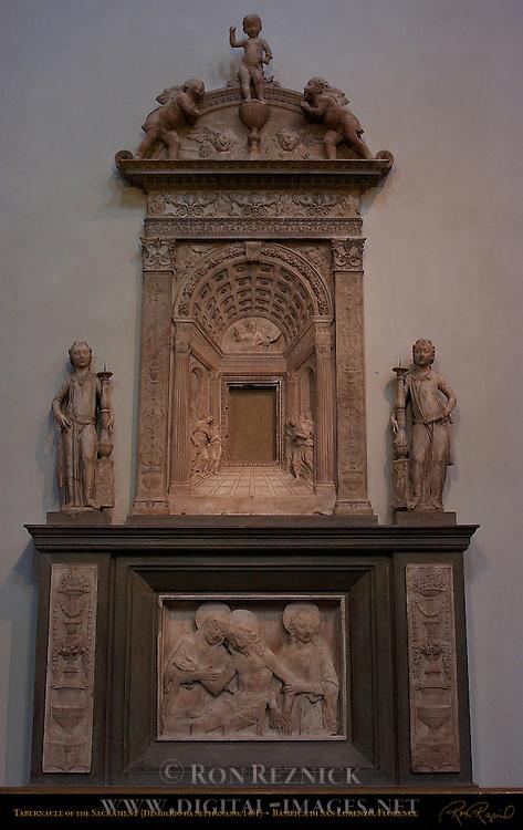 Tabernacle of the Sacrament da Settignano 1461 Basilica di San Lorenzo Florence