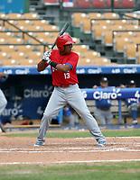Adinso Reyes  / Adinson Reyes participates in the MLB International Showcase at Estadio Quisqeya on February 22-23, 2017 in Santo Domingo, Dominican Republic.