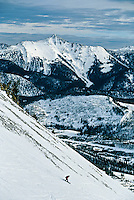 Skiing, Big Sky Resort, Montana USA