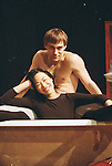 Signature Theatre Company production of Sam Shepard's Chicago at The Public Theatre in December 2000. Wayne Maugham and Lia Changon the set.  Photo cuortesy of Lia Chang Archive