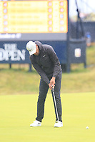 Tony Finau (USA) putts on the 8th green during Sunday's Final Round of the 148th Open Championship, Royal Portrush Golf Club, Portrush, County Antrim, Northern Ireland. 21/07/2019.<br /> Picture Eoin Clarke / Golffile.ie<br /> <br /> All photo usage must carry mandatory copyright credit (© Golffile | Eoin Clarke)