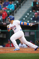 Buffalo Bisons first baseman Jesus Montero (48) at bat during a game against the Durham Bulls on June 13, 2016 at Coca-Cola Field in Buffalo, New York.  Durham defeated Buffalo 5-0.  (Mike Janes/Four Seam Images)