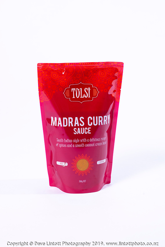 Tulsi photoshoot - Madras Curry Sauce. Wellington, New Zealand on Monday, 23 September 2019. Photo: Dave Lintott / lintottphoto.co.nz