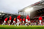 Jesse Lingard warms up with his Manchester United team mates during the UEFA Europa League Quarter Final 2nd Leg match at Old Trafford, Manchester. Picture date: April 20th, 2017. Pic credit should read: Matt McNulty/Sportimage