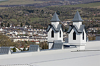 COPY BY TOM BEDFORD<br /> Pictured: Exterior view of the store with the town of Merthyr Tydfil in the background.<br /> Re: Trago Mills Mega Store, which opened its doors in Merthyr Tydfil, and is the largest store in Wales, UK. It is a &pound;65m investment creating 350 jobs in one of Britain's biggest unemployment blackspots