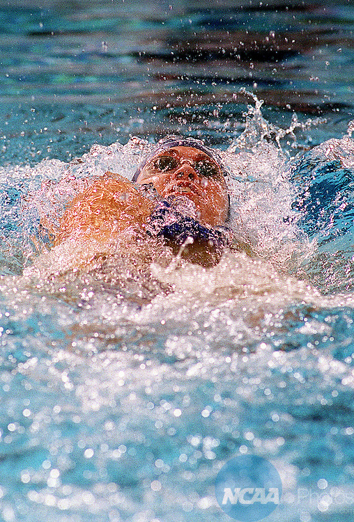 23 MAR 2002:  Natalie Coughlin of the Univeristy of California- Berkeley swims the 200 yard backstroke during the Division 1 Women's Swimming and Diving Championships held at the Texas Aquatic Center on the University of Texas campus in Austin, TX.  Coughlin finished with a new NCAA record time of 1:49.52.  Jamie Schwaberow/NCAA Photos