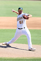 Nathan Long - Oakland Athletics - 2010 Instructional League.Photo by:  Bill Mitchell/Four Seam Images..