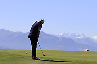 Matthew Southgate (ENG) putts on the 7th green during Saturday's Round 3 of the 2018 Omega European Masters, held at the Golf Club Crans-Sur-Sierre, Crans Montana, Switzerland. 8th September 2018.<br /> Picture: Eoin Clarke | Golffile<br /> <br /> <br /> All photos usage must carry mandatory copyright credit (&copy; Golffile | Eoin Clarke)