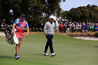 Xander Schauffele (USA) on the 1st fairway during the Second Round - Foursomes of the Presidents Cup 2019, Royal Melbourne Golf Club, Melbourne, Victoria, Australia. 13/12/2019.<br /> Picture Thos Caffrey / Golffile.ie<br /> <br /> All photo usage must carry mandatory copyright credit (© Golffile | Thos Caffrey)