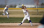 Western Nevada shortstop Jennifer Rechel makes a play during a college softball game against College of Southern Nevada in Carson City, Nev., on Thursday, March 14, 2013..Photo by Cathleen Allison