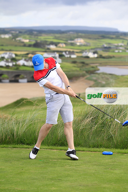 Colin Cunningham (Carton House) on the 9th tee during Round 2 of The South of Ireland in Lahinch Golf Club on Sunday 27th July 2014.<br /> Picture:  Thos Caffrey / www.golffile.ie
