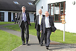 Dermot Ahern, David Ford and Kenny MacAskill at the first tri-lateral meeting of Justice Ministers from Ireland, the North and Scotland which took place in Co Louth today...Picture Jenny Matthews/Newsfile.ie