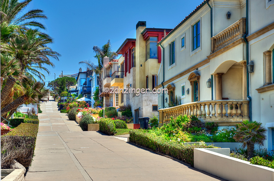 Manhattan; Beach; CA; Walk; Street; Strand; Hill; , quaint; alleyways; walk; streets; Sand Section