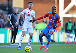 Sheffield United's George Baldock and Crystal Palace's Wilfried Zaha during the Premier League match at Selhurst Park, London. Picture date: 1st February 2020. Picture credit should read: Paul Terry/Sportimage