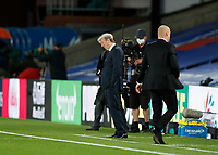29th June 2020; Selhurst Park, London, England; English Premier League Football, Crystal Palace versus Burnley Football Club; Crystal Palace Manager Roy Hodgson reacts disappointed after the final whistle from the touchline as Burnley beat Crystal Palace 0-1 at Selhurst Park